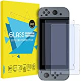MoKo Glass Screen Protector for Nintendo Switch(2 Pack), Tempered Glass HD Clear Anti-Fingerprint & Anti-Bubble Film for Nintendo Switch 2017
