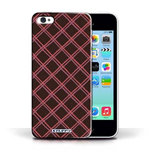 Etui / Coque pour Apple iPhone 5C / Rouge/Noir conception / Collection de Motif Entrecroisé
