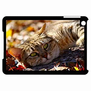 Customized Back Cover Case For iPad Mini Hardshell Case, Black Back Cover Design Cat Personalized Unique Case For iPad Mini