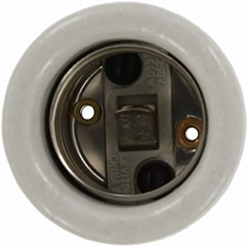 Leviton 8052-1 026-08052-001 1-Circuit 1-Piece Keyless Lamp Holder Porcelain Body Incandescent White