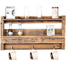 DAKODA LOVE - Rustic Coffee & Tea Shelf, USA Handmade Reclaimed Wood
