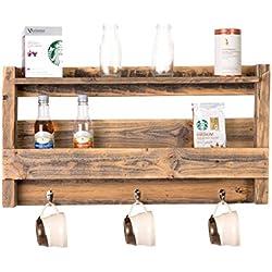 DAKODA LOVE - Rustic Coffee & Tea Shelf, USA Handmade Reclaimed Wood