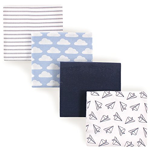 Hudson Baby Receiving Blankets, 4 Pack, Paper Airplanes