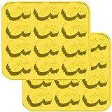 Fanpans NCAA Iowa Hawkeyes Ice Trays & Candy Mold, One Size, Yellow
