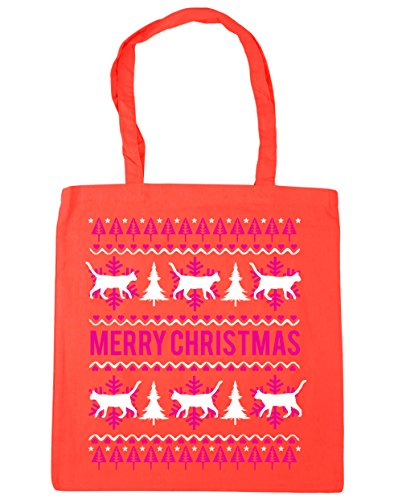 Tote x38cm christmas cat litres Bag Coral Gym Beach HippoWarehouse Merry 10 Shopping 42cm zOqwEqtx
