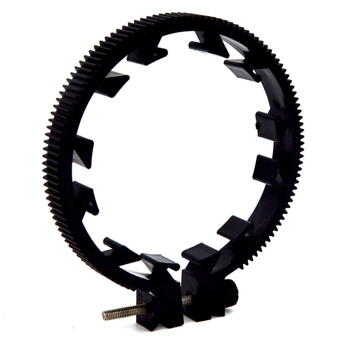 0.8 Modulo seguire la corona dentata di messa a fuoco per obiettivo DSLR 75-85mm Anello ingranaggi regolabile per seguire le forniture della fotocamera DSLR con cintura di messa a fuoco BlackPJenny