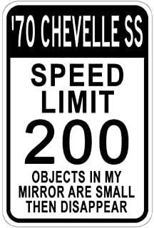 amazon 1970 70 chevy chevelle ss aluminum parking sign 10 x 1965 Chevy SS 396 1970 70 chevy chevelle ss speed limit sign 10 x 14 inches