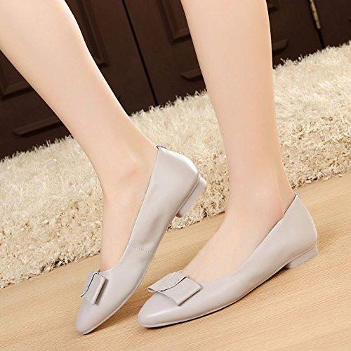 SSBY Frühjahr Schuhe Flache Einzelne Schuhe Schuhe Schuhe Weichen Sohle Schuhe. gray