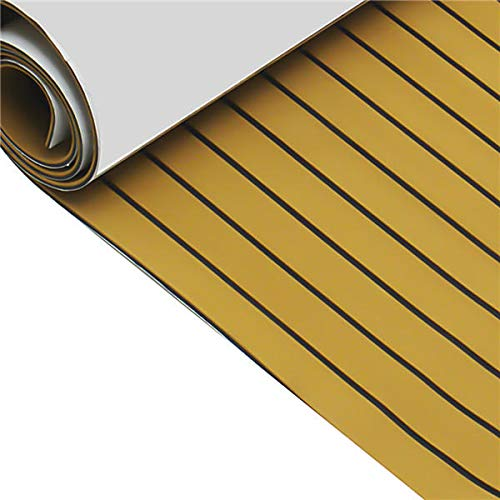 Anddoa EVA Foam Deep Yellow with Black Strip Boat Flooring Faux Teak Decking Sheet Pad - #001 by Anddoa (Image #3)