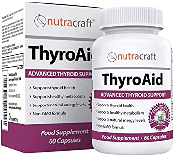 Thyroid Support Supplement - Advanced Natural Herbal Formula to Support  Healthy Metabolism, Promote Weight Loss & Increase Energy with Kelp,  Iodine,