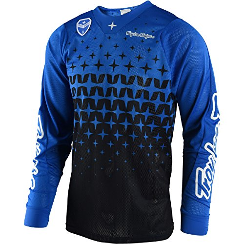 2018 Troy Lee Designs SE Air Megaburst Men's Jersey-Blue/Black-L by Troy Lee Designs