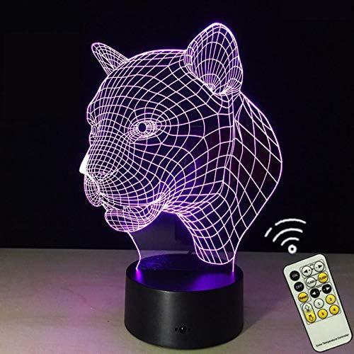 Cabeza de leopardo LED Lámpara de mesa 3D Regalo para niños novedad se extiende creativo Lámpara de mesa 3D Regalo para niños Luz de noche al por mayor usb LED inalámbrico