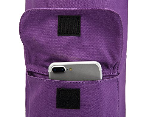 Yoga Mat Carrier Full-Zip Exercise Yoga Mat Carry Bag for Women Men with Multi-Functional Storage Pockets and Adjustable Shoulder Strap ELENTURE Yoga Mat Bag