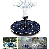 Hiistar Solar Fountain,Floating Solar Pump Bird Bath Fountain Self powered For Garden and Patio Watering (Solar Fountain)