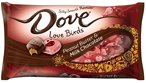 Dove Valentines Day Candy, Milk Chocolate with Peanut Butter Love Birds Bag, 7.94 Ounce