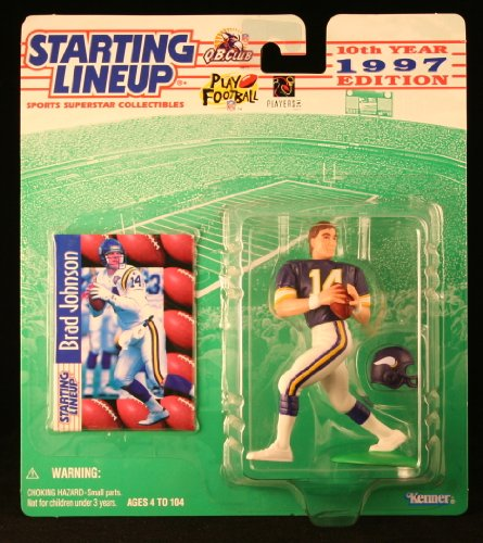 BRAD JOHNSON / MINNESOTA VIKINGS 1997 NFL Starting Lineup Action Figure & Exclusive NFL Collector Trading Card