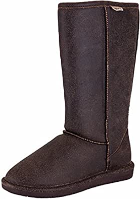 BEARPAW Women's Emma Tall Boot (5 B(M) US, Chestnut Distressed)