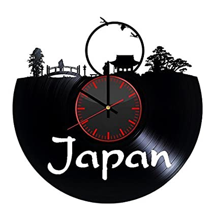Japan Nature Design Vinyl Record Wall Clock Unique Gifts For Him Her Gift Ideas Mothers