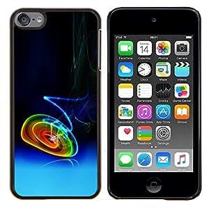 """Be-Star Único Patrón Plástico Duro Fundas Cover Cubre Hard Case Cover Para iPod Touch 6 ( Círculos de neón de fumadores"""" )"""