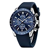 Mens Waterproof Chronograph Analog Watch-BENYAR Luxury Business Dress Silicon Strap Watch Perfect