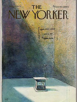 - 1975 New Yorker August 4 - Manhattan Parking Lot on Sunday