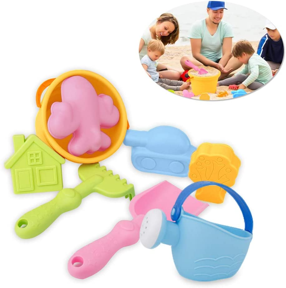 Ailuck Beach Toy Set,Childrens Beach Toys,Eco-Friendly and Durable Seaside Beach Toys Set,Summer Outdoor for Kids Sand Pool Model Kit Random Color 8 Pack Random Color