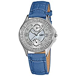 Round Diamond Classic Stainless Steel Date Watch