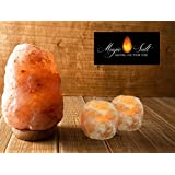 Lampada di sale dell Himalaya Magic Salt® Lighting for Your Soul – (2-3 Kg + 2 portacandele)