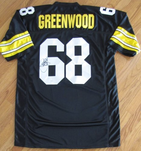 L.C. Greenwood Autographed black jersey - Pittsburgh Steelers - Steel Curtain