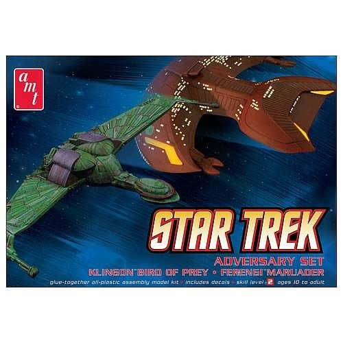 Star Trek Bird of Prey and Marauder Adversary Set Model Kit