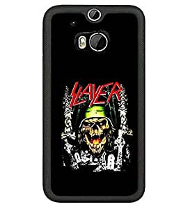 Band Logo Design Phone Case Cover For Guys Htc One M8 Case Band Design Slayer Creative Style Protect Pattern Plastic Skin Shell Bumper