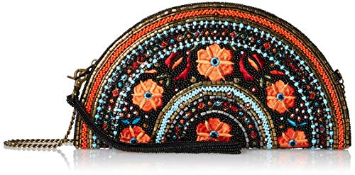 Mary Frances Viva La Noche Beaded-Embroidered Half-Circle Wristlet Handbag, Multi