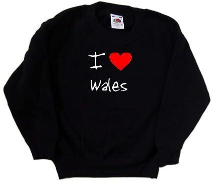 I Love Heart Wales Sweatshirt