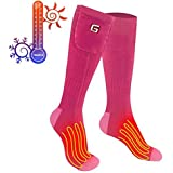 Greensha Electric Heated Socks With Rechargeable Battery Unisex Thermal Sox Foot Warmer For Fishing Skiing Hiking Hunting