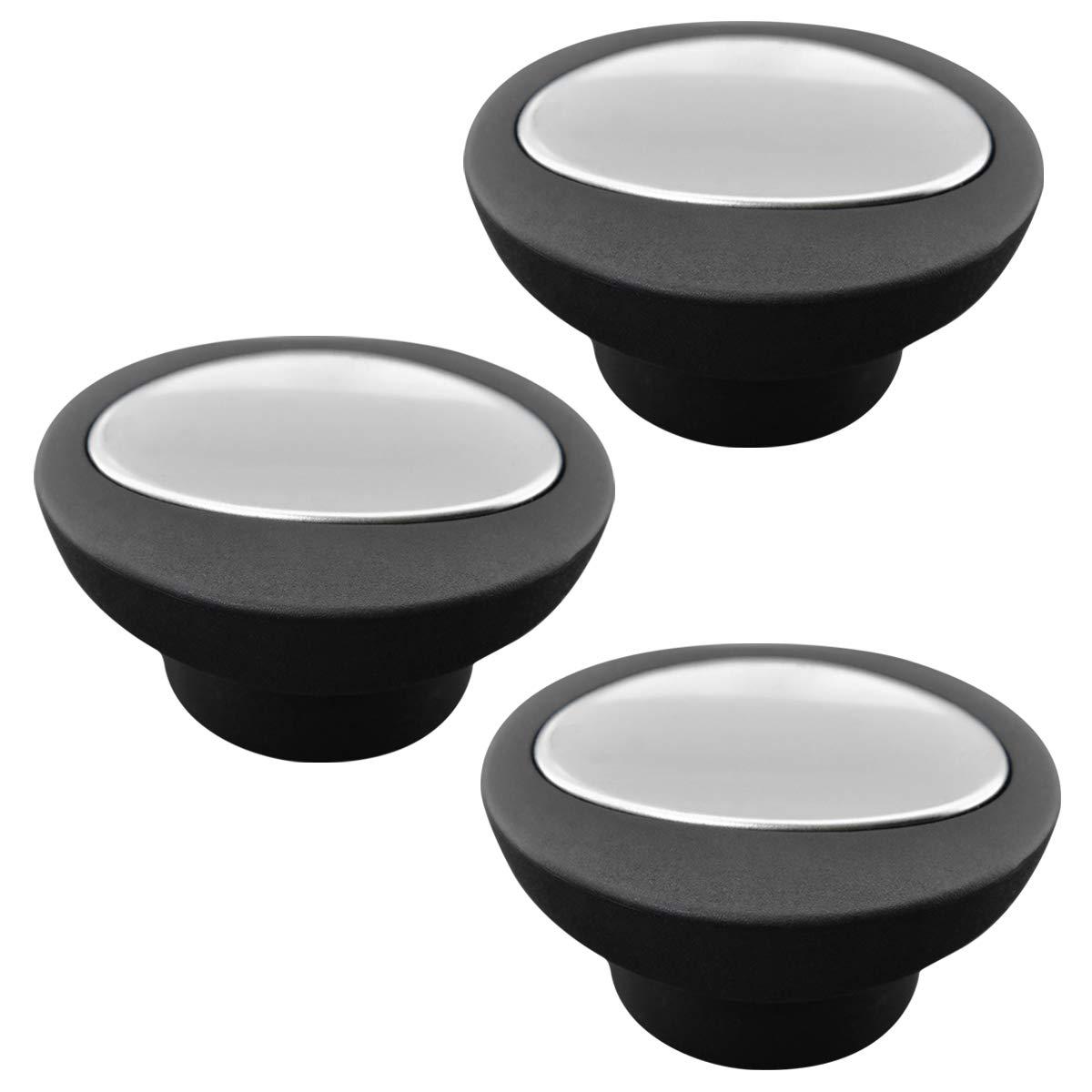 Universal Pot Lid Replacement Knobs Pan Lid Holding Handles (3 Pcs) black