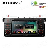 XTRONS 7'' Android 7.1 Quad Core Capacitive Touch Screen Car Stereo Radio DVD Player Screen Mirroring Function OBD2 DVR for BMW 3 Series E46