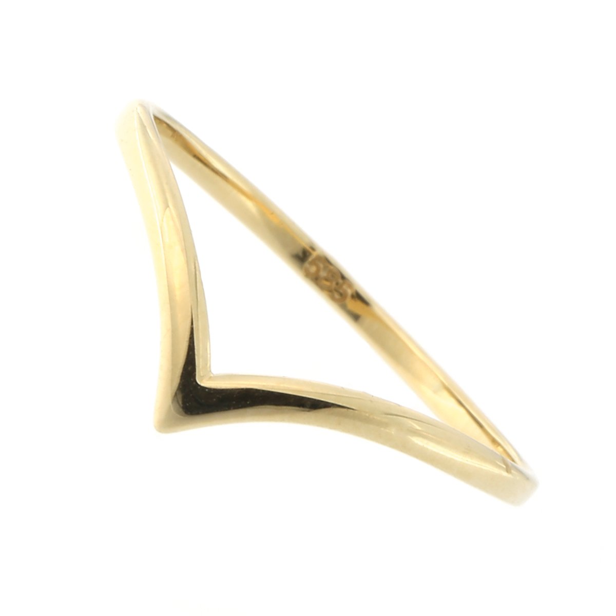 Beauniq 14k Yellow Gold Chevron Ring, Size 8