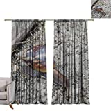 WinfreyDecor Thermal Curtains Bee hive Noise Reducing W84 x L108