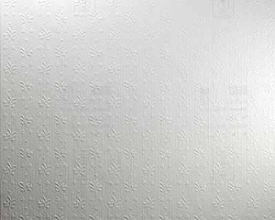 York Wallcoverings Patent Decor PT9862 Sprig And Bloom Paintable Wallpaper, White