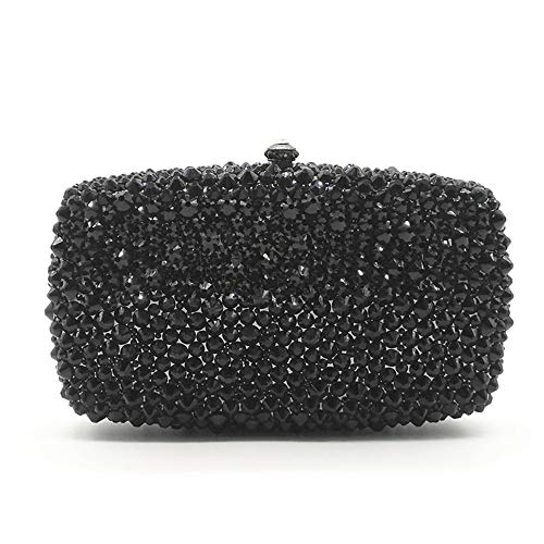 Soirée Diamante rabbit Black Evening Color Handbag Lovely Main Sparkly Sacs Sacs à Clutch Gold nBaWIWYUq