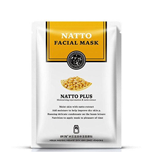 10 PC Face Mask Moisturizing Skin Whitening Natto Fermented
