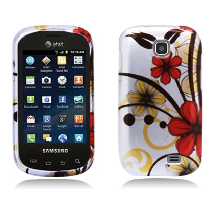 Boundle Accessory for At&t Samsung Galaxy Appeal I827 -Cherry Blossom Designer Hard Case Protector Cover + Lf Stylus Pen