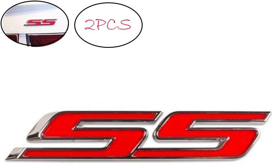 Blue//Chrome SS Logo Plate Sport Motor Trunk Metal Badge Decal Sticker Emblem