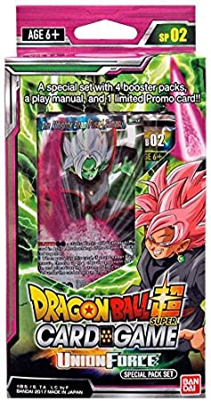 Dragon Ball Z Super Union Force TCG Special Pack English Card Game - 4 boosters   promo!