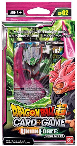 Union Booster - Dragon Ball Z Super Union Force TCG Special Pack English Card Game - 4 boosters + promo!