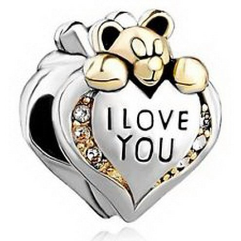 Dan Smatree The Beads Pugster Charm Beads I Love You Heart Bear In stock Hard to find