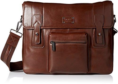 Dopp Men's Leather Messenger Bag, Brown by Dopp
