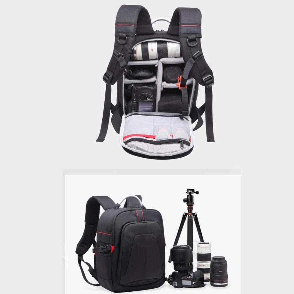 Flash or Other Accessories Mirrorless Camera Slivy Leisure Backpack Camera Case Anti-Theft Camera Bag with Tripod Holder and Rain Cover for DSLR
