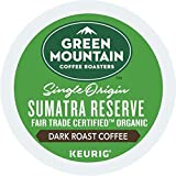 Green Mountain Coffee, Sumatra Reserve, Single-Serve Keurig K-Cup Pods, Dark Roast Coffee, 72 Count (3 Boxes of 24 Pods)