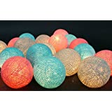 20 Light Bulbs Handmade Lighting String Mixed Vintage Colors Lantern Home Decoration, Patio, Living Room, Garden Indoor Outdoor, Birthday, Christmas, Wedding, New Year, Anniversary, Valentine Party